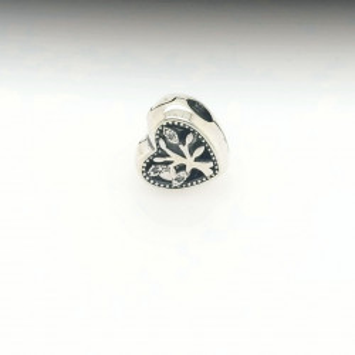 Talisman Argint 925 rodiat Inima cu copacul vietii si zirconiu