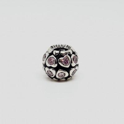 Talisman Argint 925 rodiat PINK LIGHT-Simulated Diamond