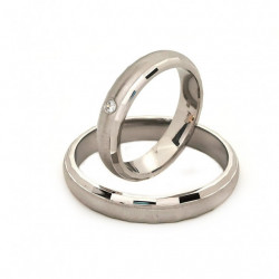 Verighete din Argint 925 rodiat si zirconiu- Simulated Diamond- Cod: AT2466