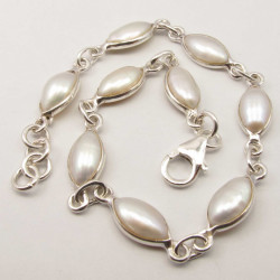 Bratara Argint 925 cu Perla FreshWater 20.1 cm lungime