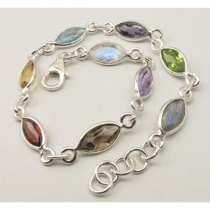 Bratara Argint Multicolora
