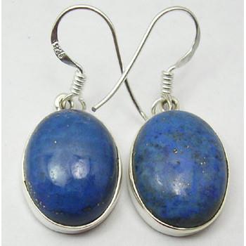Cercei Argint 925 cu Lapis Lazuli, 3.3 cm lungime