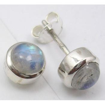 Cercei Argint 925 cu Piatra Lunii,0.8 cm lungime