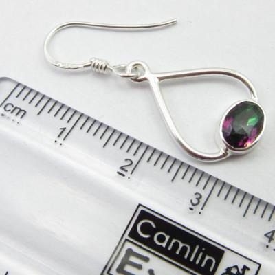 Cercei Argint 925 Topaz Mistic 3.4 cm lungime