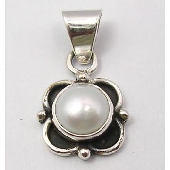 Pandantiv Argint 925 cu Perla FreshWater, 2.3 cm lungime