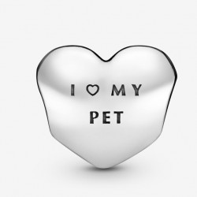 Talisman Argint 925 rodiat I love my pet cu Zirconiu - Simulated Diamond