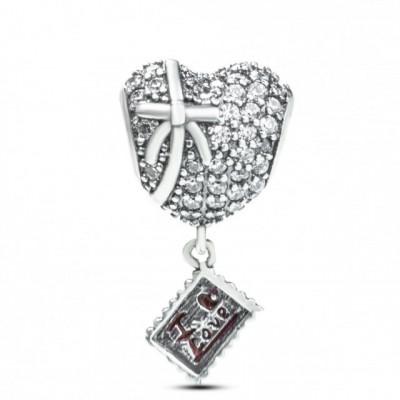 Talisman Argint 925 rodiat I love you