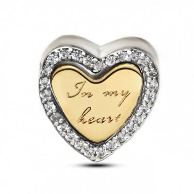 Talisman Argint 925 rodiat In inima mea