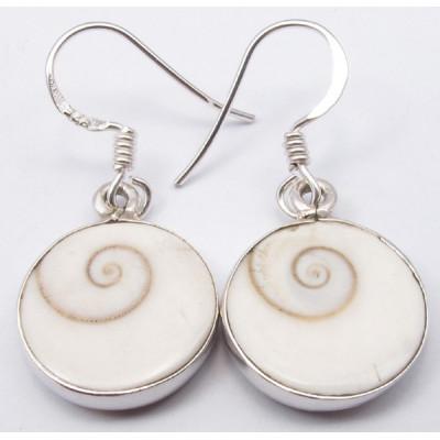925 Silver Shiva Eye Earrings 3.2CM