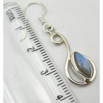 Cercei Argint 925 cu Labradorit, 4 cm lungime