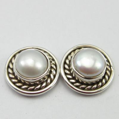 Cercei Argint 925 cu Perla FreshWater 1 cm lungime