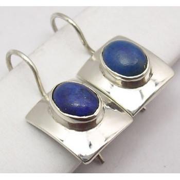 Cercei Argint cu Lapis Lazuli (2,5 cm)