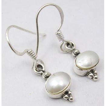 Cercei Argint cu Perla FreshWater (2,9 cm)