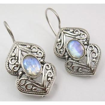 Cercei Argint cu Piatra Lunii (3 cm)