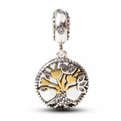 Talisman Argint 925 rodiat Copacul vietii Auriu