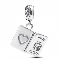 Talisman Argint 925 rodiat Happy Birthday