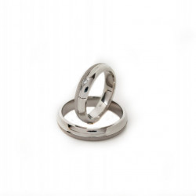 Verighete Argint 925 si zirconiu- Simulated Diamond- Cod: AT2464