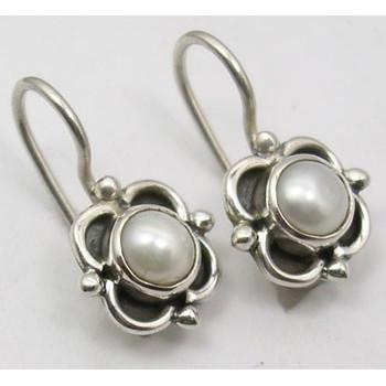 925 Silver Fresh Water Pearl Earrings 1.8CM
