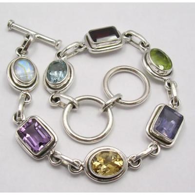 925 Silver Multistones Bracelet