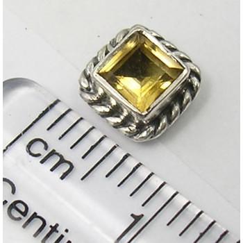 Cercei Argint 925 cu Citrin, 0.7 cm lungime