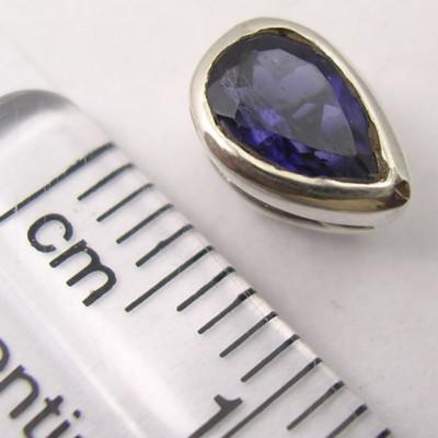 Cercei Argint 925 cu Iolit, 0.8 cm lungime