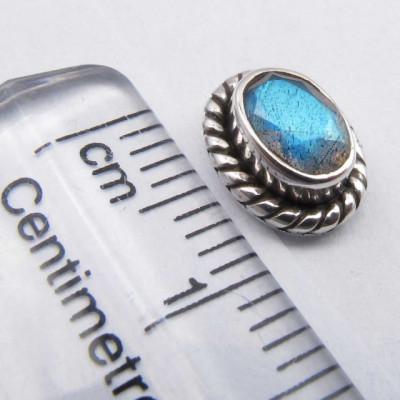 Cercei Argint 925 cu Labradorit, 0.9 cm lungime