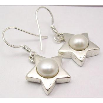 Cercei Argint 925 Cu Perla FreshWater , 4,4 cm lungime