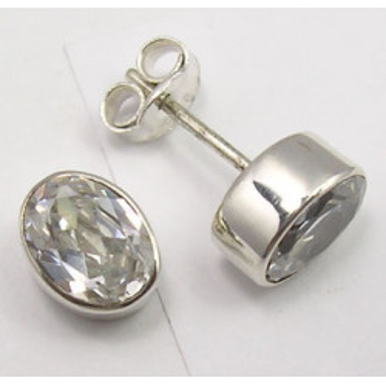 Cercei Argint 925 cu Zirconiu Cubic, 0.9 cm lungime