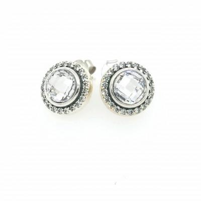 Cercei Argint 925 rodiat Cu Zirconiu Mov- Simulated Diamond