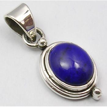 Pandantiv Argint 925 cu Lazuli 3cm lungime
