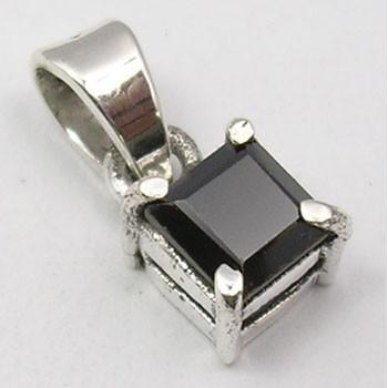 Pandantiv din Argint cu Onix Negru 1,4 cm