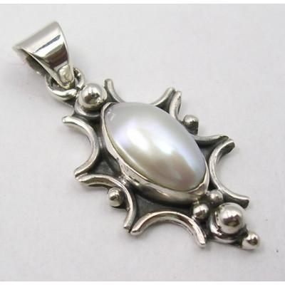 Pandantiv din Argint cu Perla FreshWater 3,1 cm