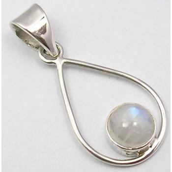 Pandantiv din Argint cu Piatra Lunii 3,2 cm