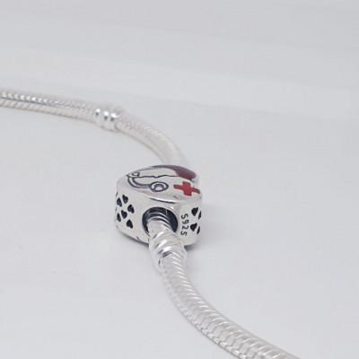 Talisman Argint 925 rodiat Inima de salvator Simulated Diamond