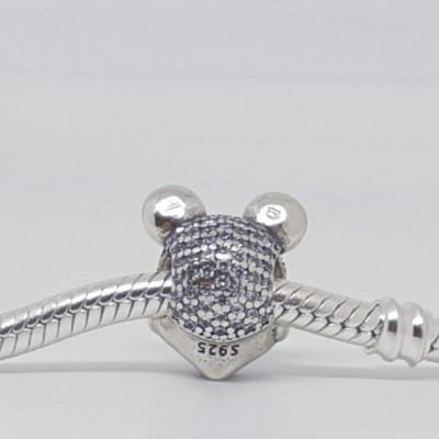 Talisman Argint 925 rodiat Mickey Mouse Simulated Diamond
