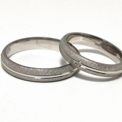 Verighete din Argint 925 rodiat si zirconiu- Simulated Diamond- Cod: AT2463