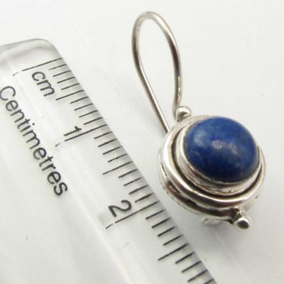 Cercei Argint 925 cu Lapis Lazuli, 2.4 cm lungime