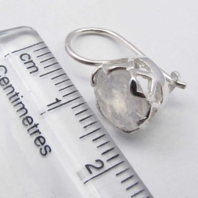 Cercei Argint 925 cu Piatra Lunii 1.9 cm lungime