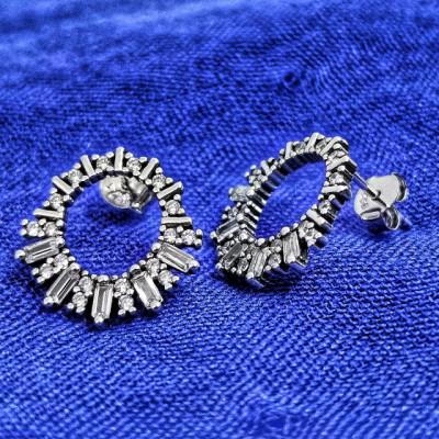 Cercei Argint 925 rodiat Cerculete cu zirconii