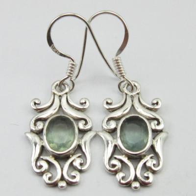 Cercei Argint cu Apatit 3,5 cm