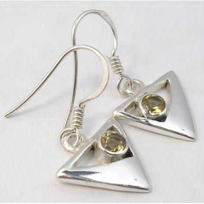 Cercei Argint cu Citrin (2,9 cm)