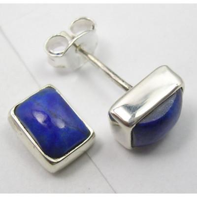 Cercei Argint cu Lapis Lazuli (0,8 cm)