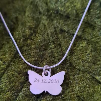 Lantisor cu Fluturas - Argint 925 Rodiat