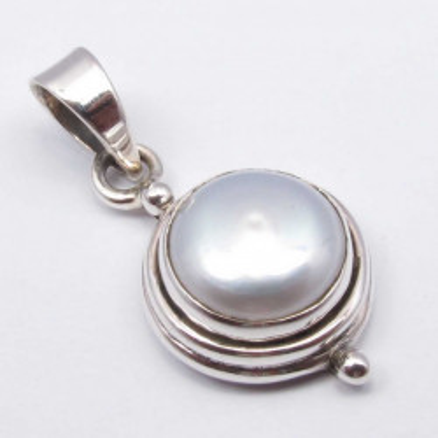 Pandantiv Argint 925 cu Pearla FreshWater 2.5 cm lungime