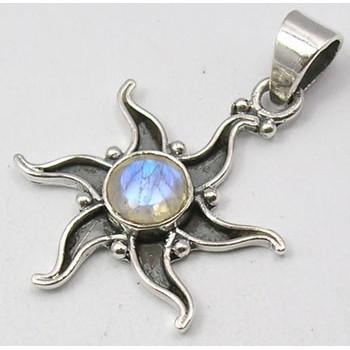Pandantiv Argint 925 cu Piatra Lunii 3.5 cm lungime