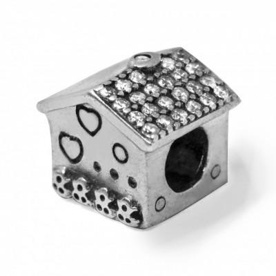 Talisman Argint 925 rodiat Casuta si zirconiu-Simulated Diamond