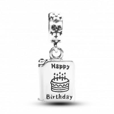 Talisman Argint 925 rodiat Happy Birthday