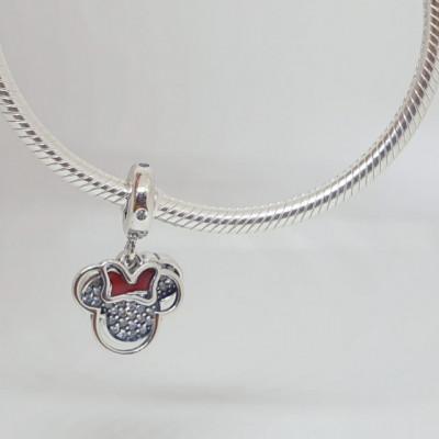 Talisman Argint 925 rodiat Minnie Mouse Simulated Diamond