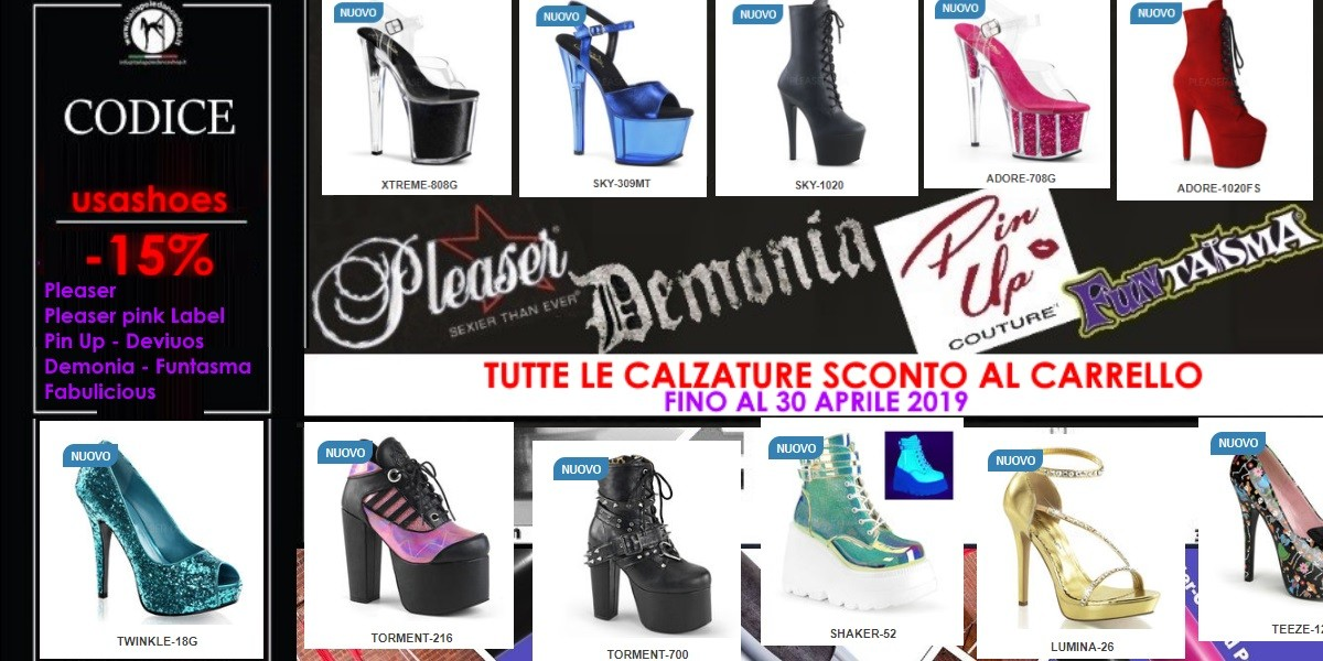 News Calzature exotic dance, sandali, stivali o Punk Demonia