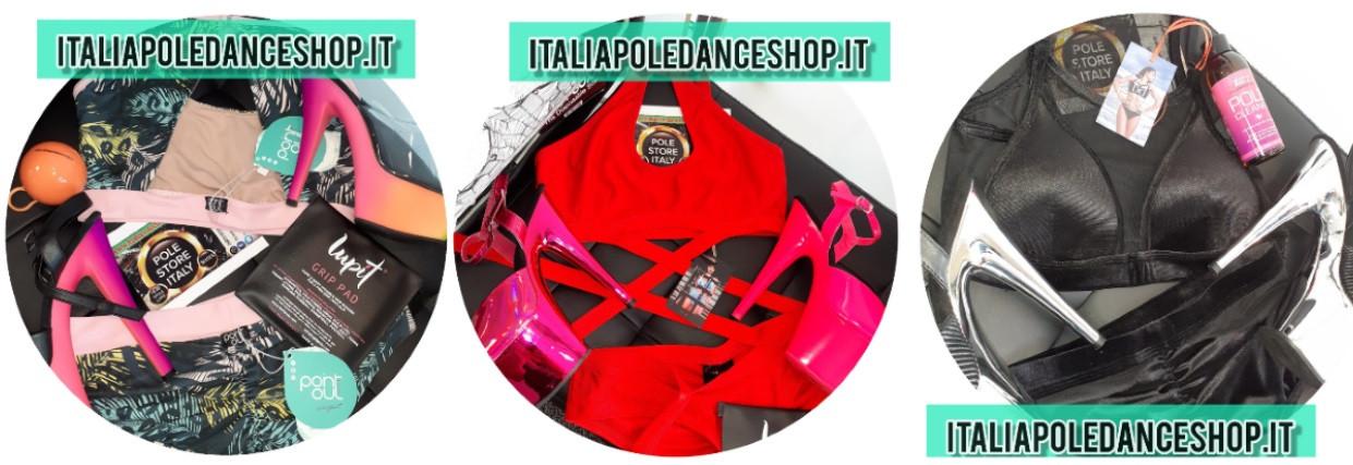 Stivali alti neri Italia Pole Dance Shop
